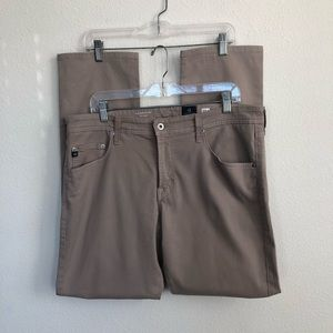 AG The Matchbox Slim Straight Khaki Beige Jeans 36